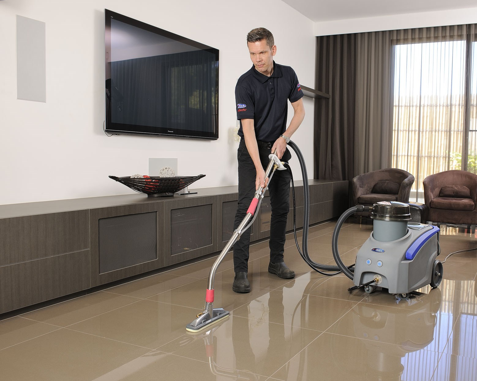 For cleaning tiles to a professional standard