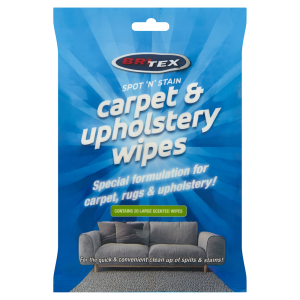 Britex carpet and upholstery cleaning wipes